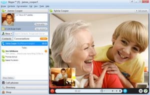 Video-konversacio per Skype 4.0