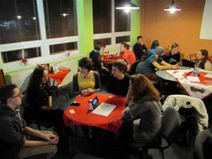La lingvokafejo organizata ĉiumonate en Partizánske
